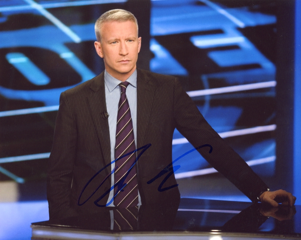 Anderson Cooper Signed Photo