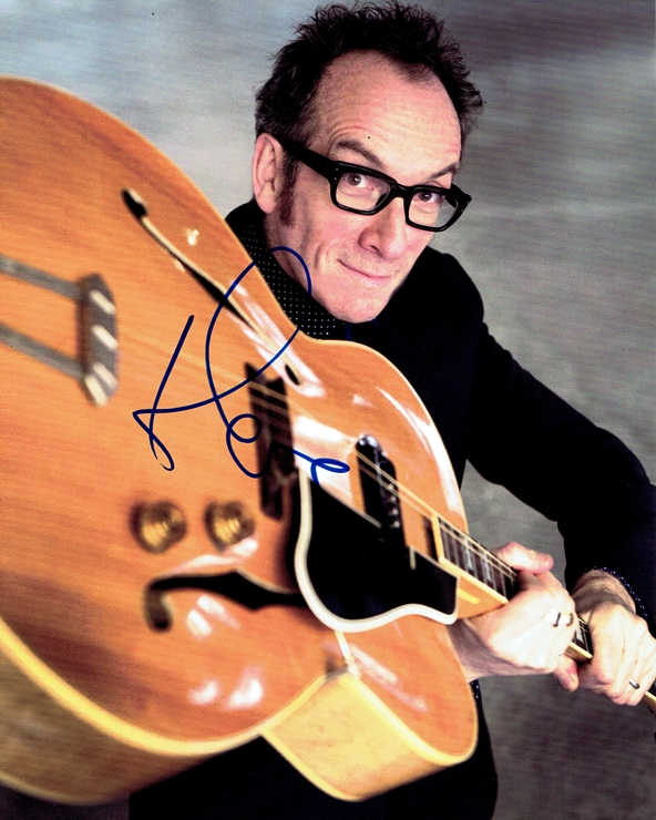 Elvis Costello Signed Photo