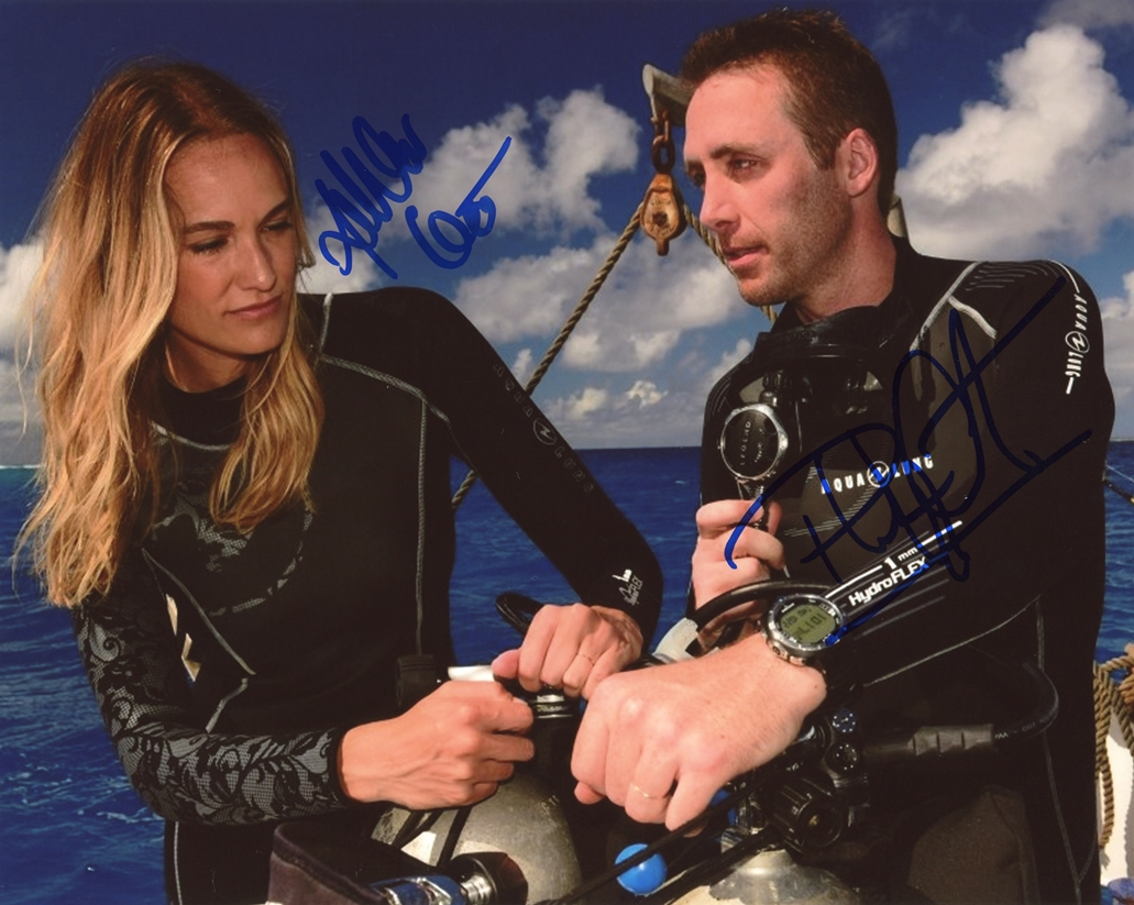 Ashlan & Philippe Cousteau Signed Photo