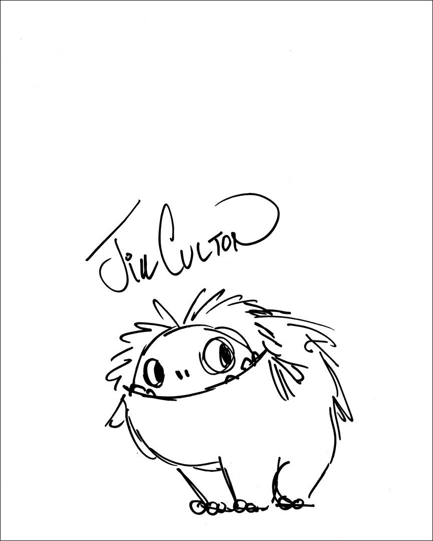 Jill Culton Signed Sketch