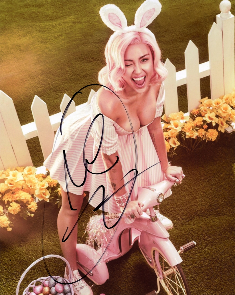 Miley Cyrus Signed Photo