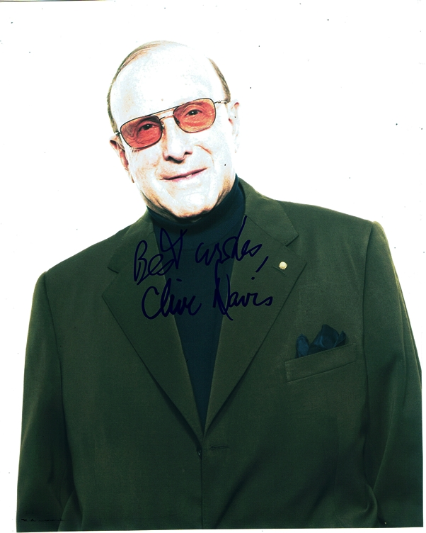 Clive Davis Signed Photo