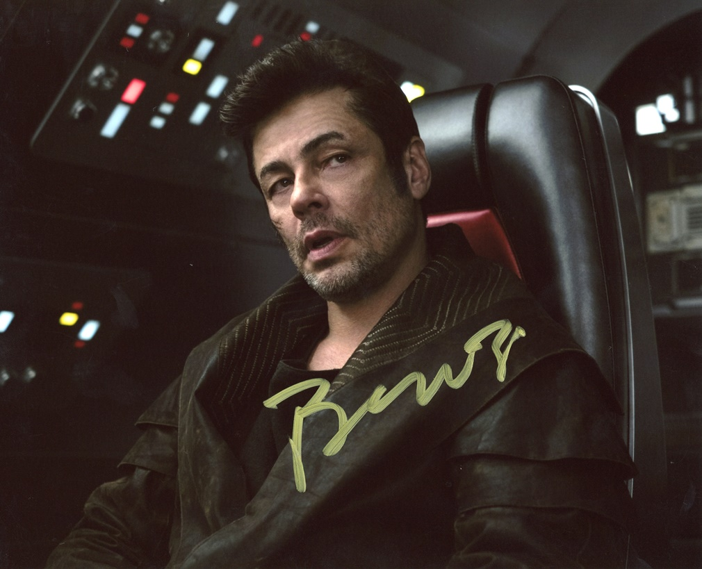 Benicio Del Toro Signed Photo