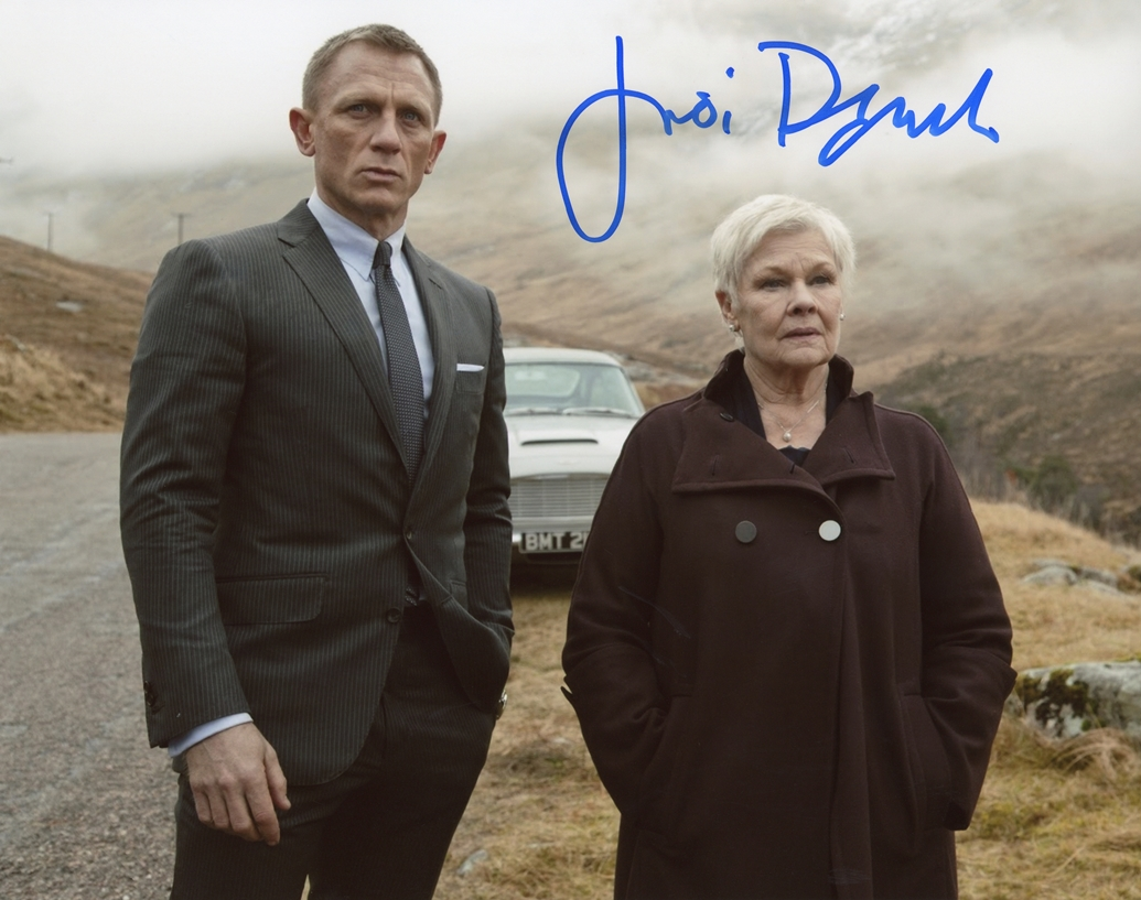 Judi Dench Signed Photo