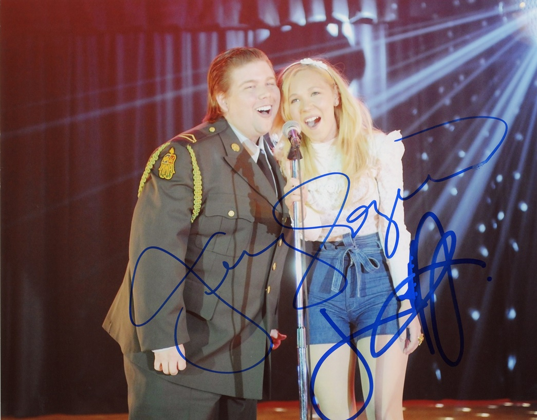 Juno Temple & Jeremy Dozier Signed Photo