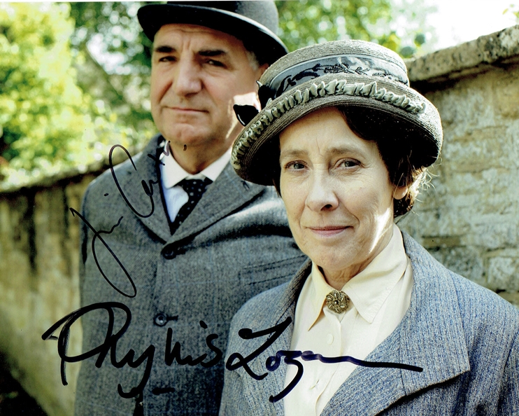 Jim Carter & Phyllis Logan Signed Photo