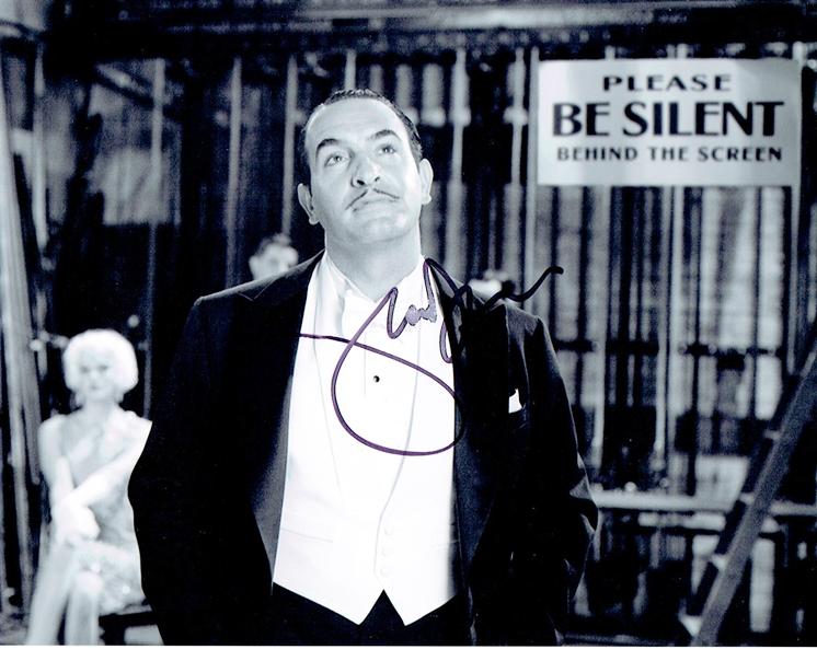 Jean dujardin the artist autograph signed 8x10 photo c for Jean dujardin autographe