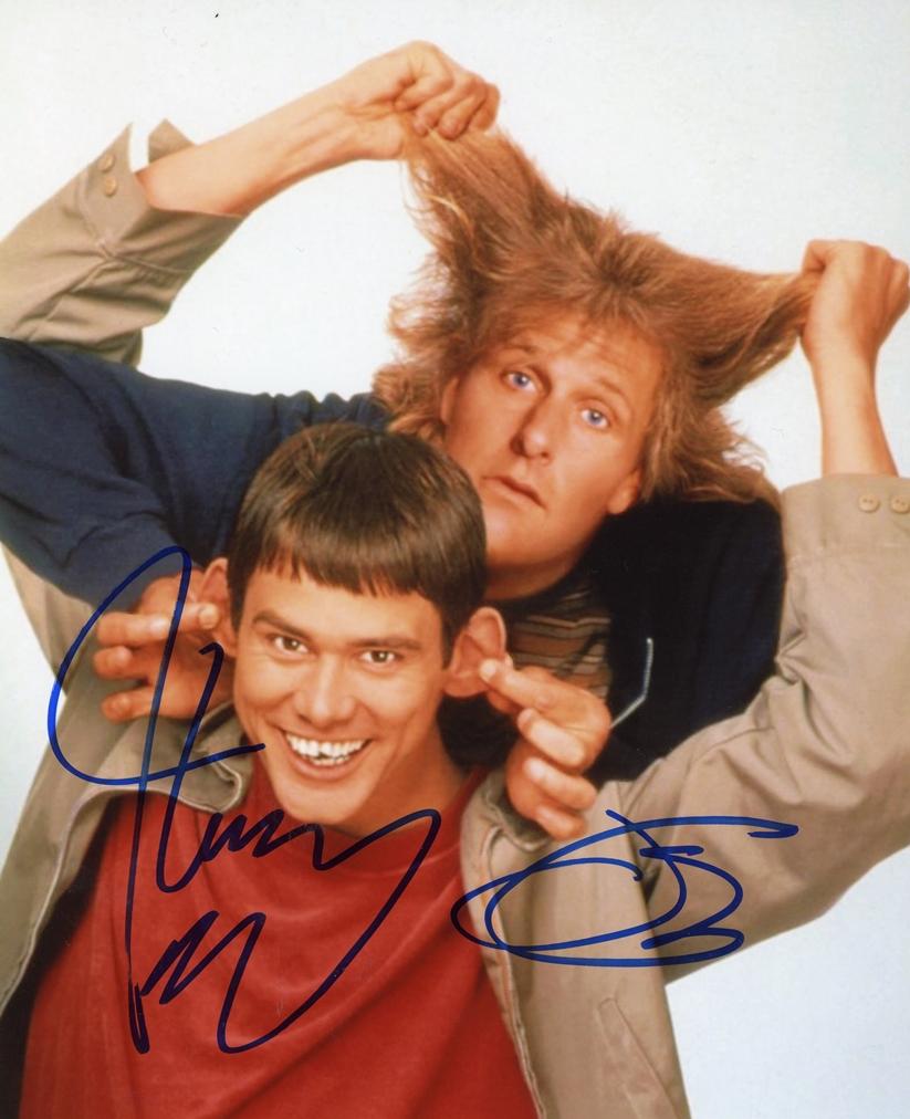 Jim Carrey & Jeff Daniels Signed Photo