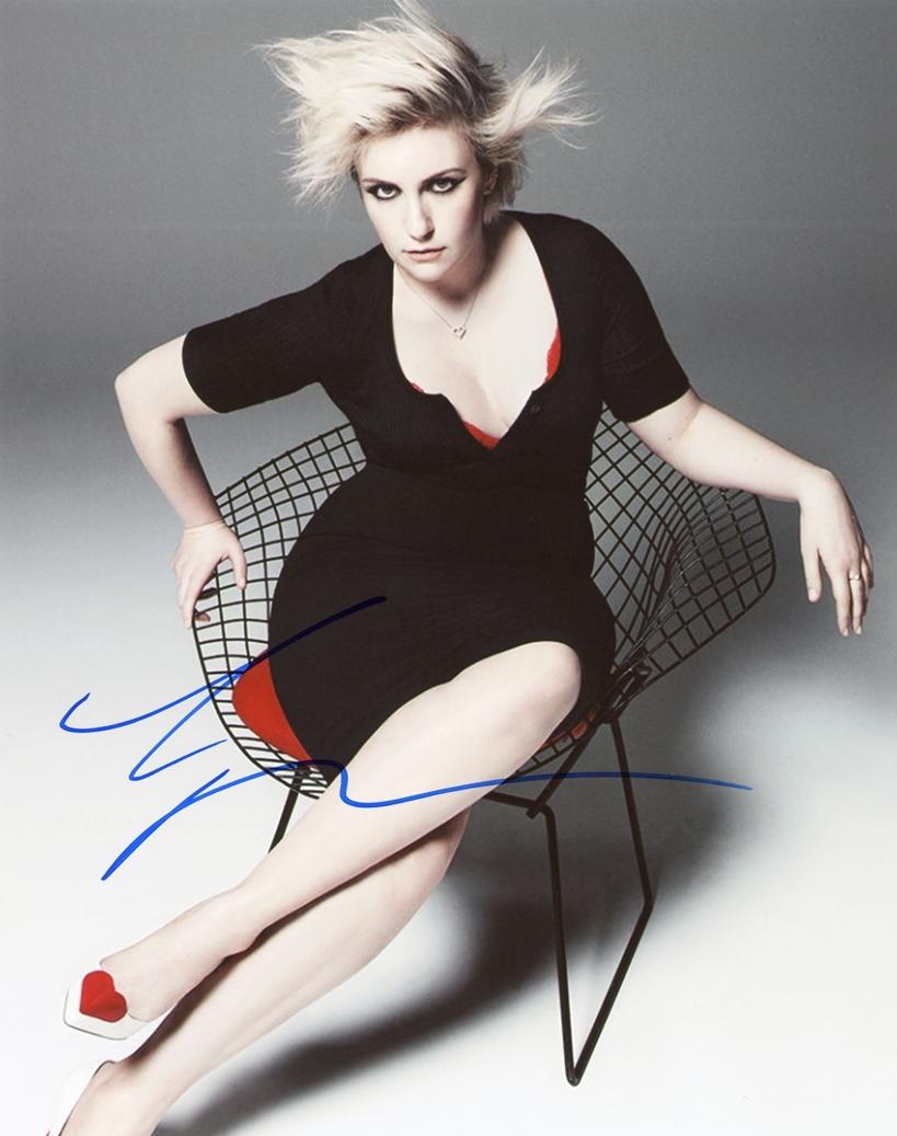 Lena Dunham Signed Photo