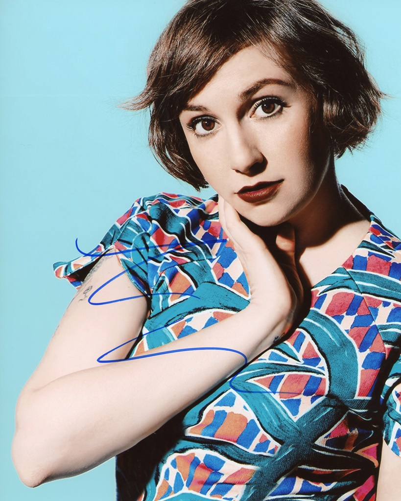 Lena Dunham Signed Photo