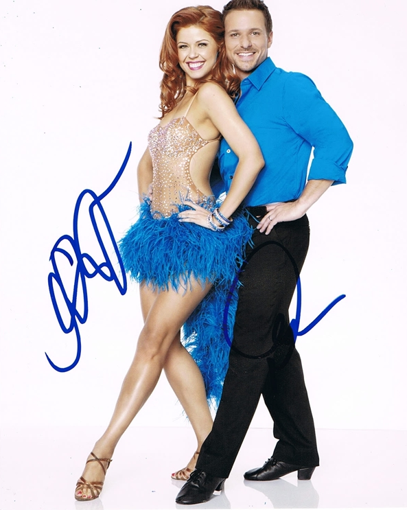 Drew Lachey & Anna Trebunskaya Signed Photo