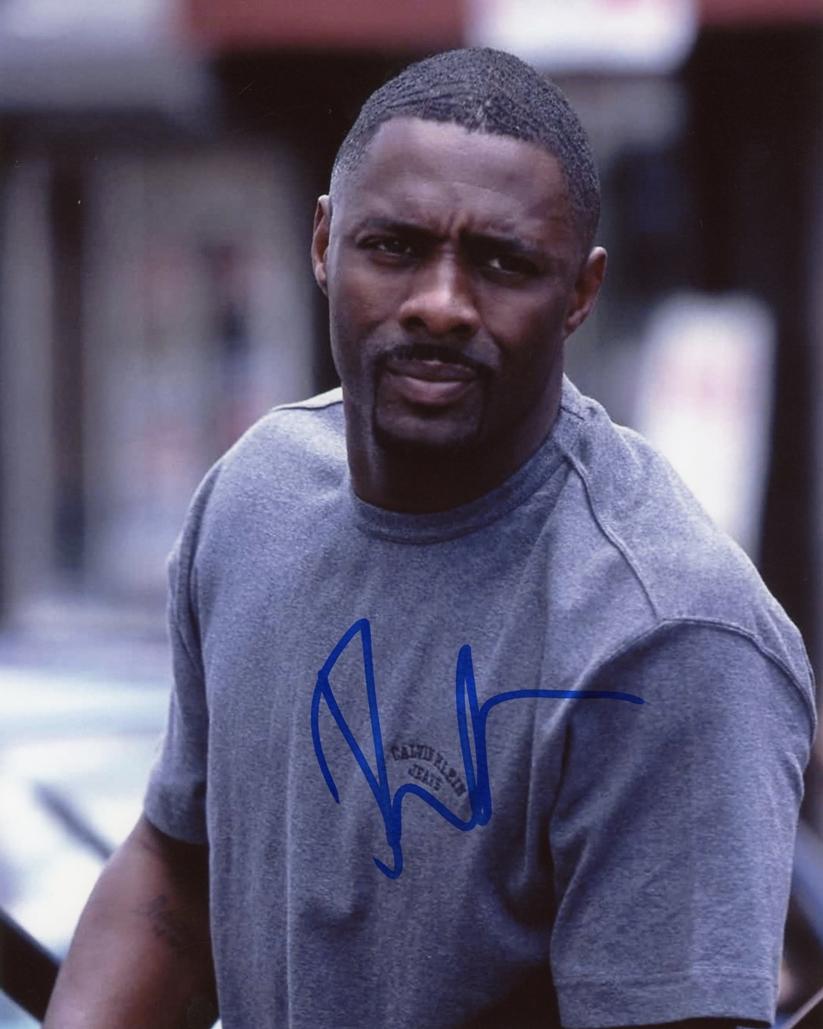 Idris Elba Signed Photo