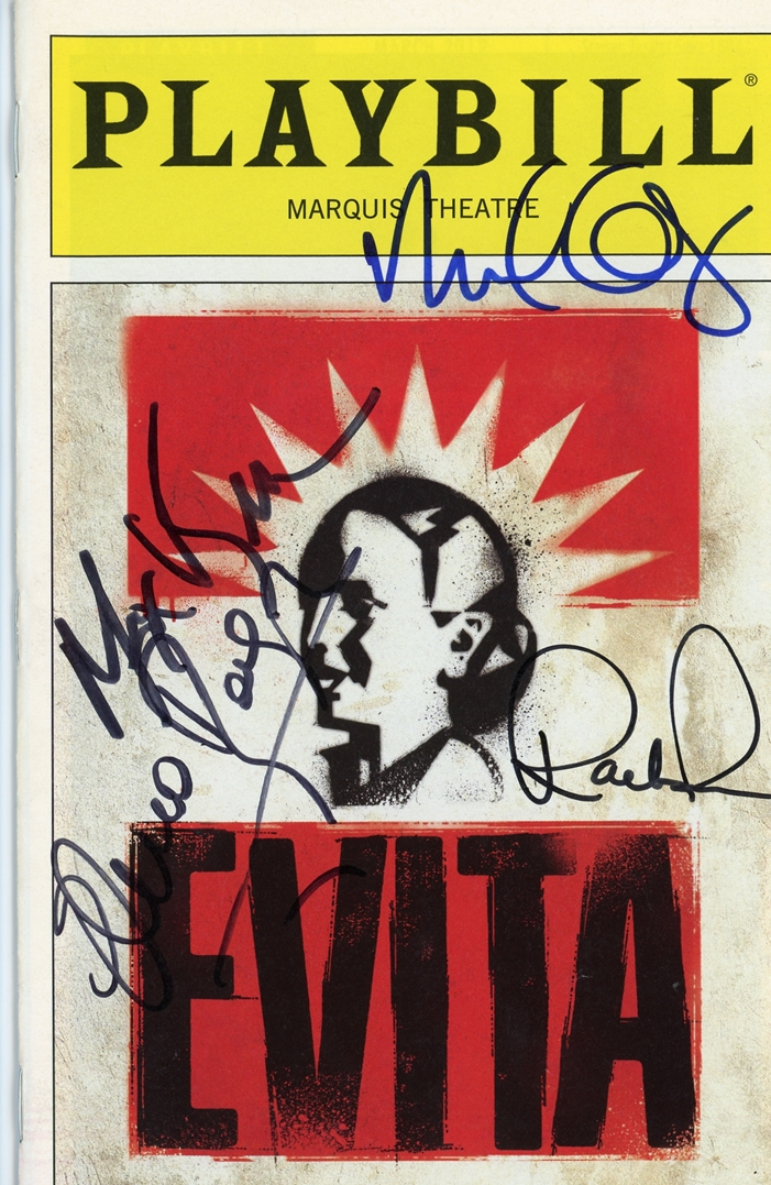 Evita Signed Playbill