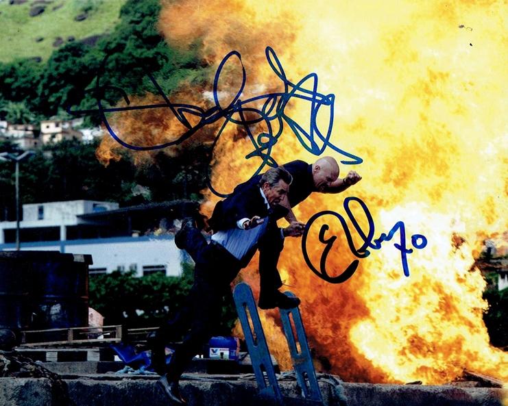 Steve Austin & Eric Roberts Signed Photo