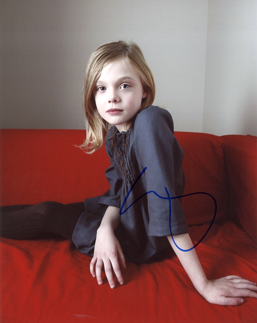 Elle Fanning Signed Photo