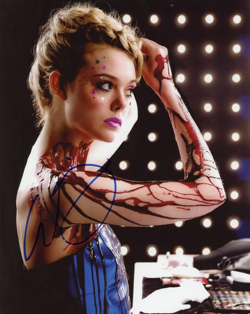 Elle Fanning Signed Photo