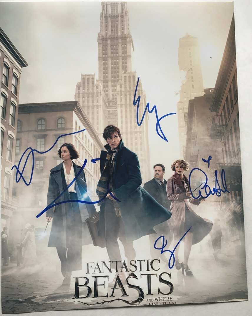 Fantastic Beasts and Where to Find Them Signed Photo
