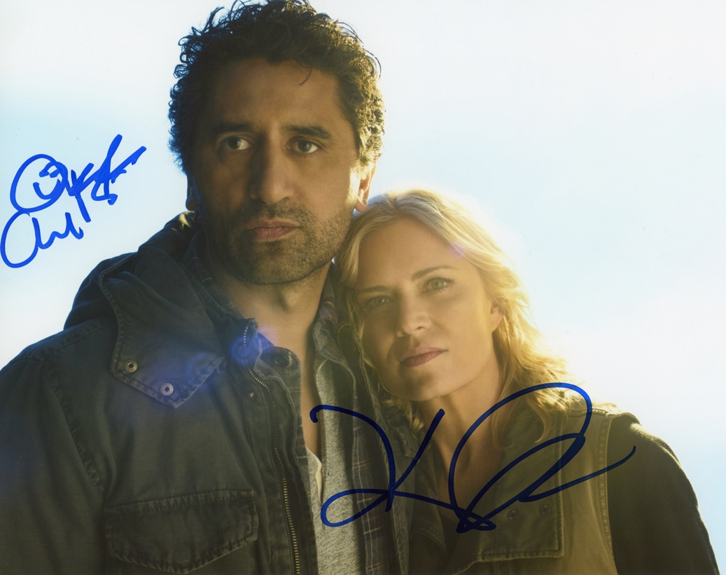 Cliff Curtis & Kim Dickens Signed Photo
