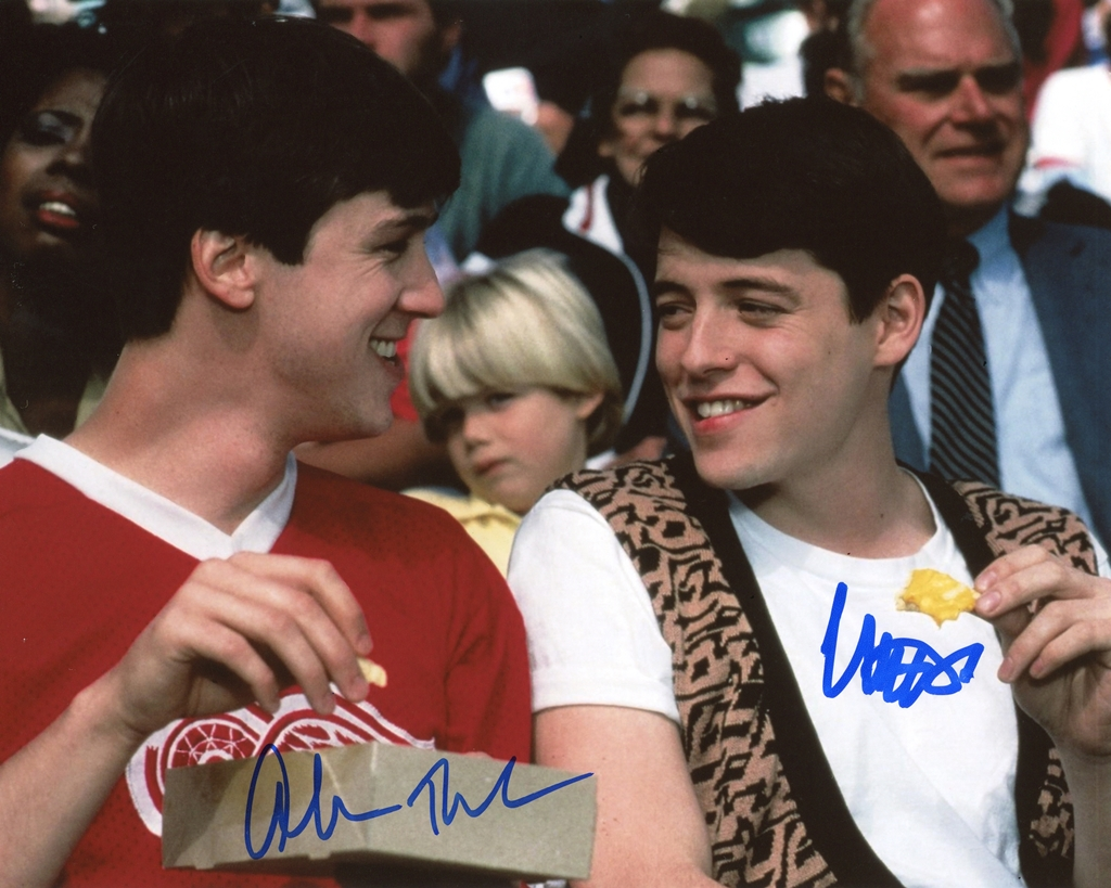 Matthew Broderick & Alan Ruck Signed Photo