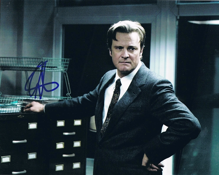 Colin Firth Signed Photo