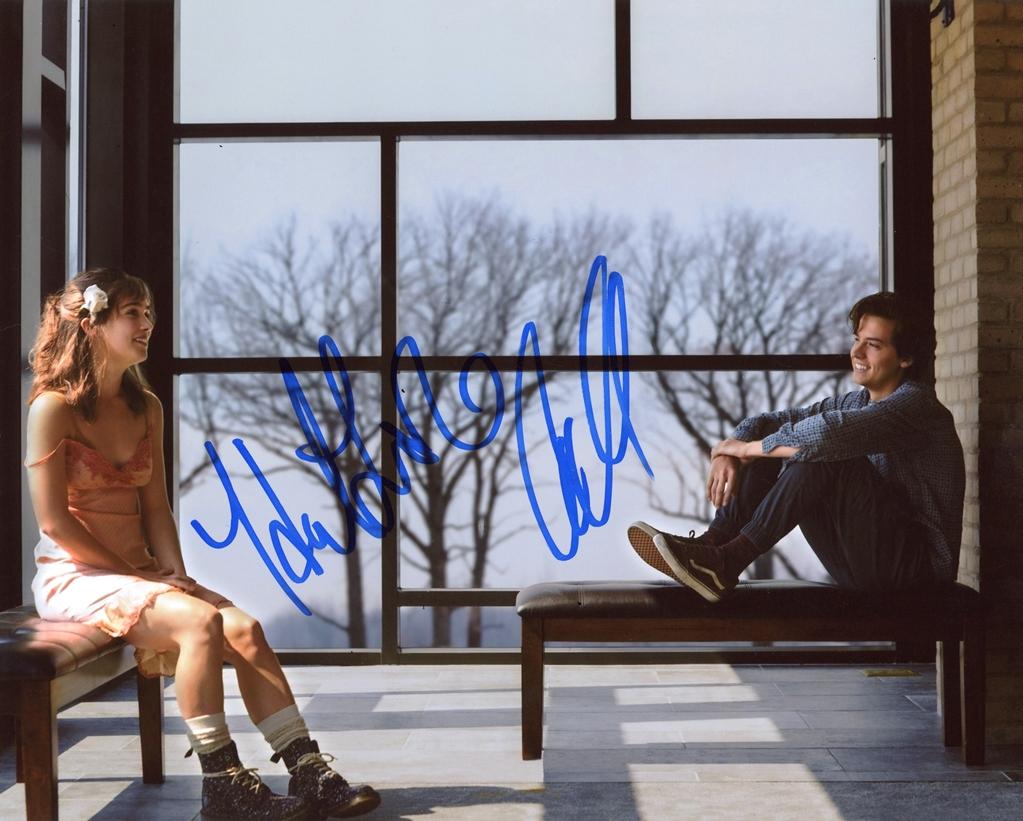 Cole Sprouse & Haley Lu Richardson Signed Photo