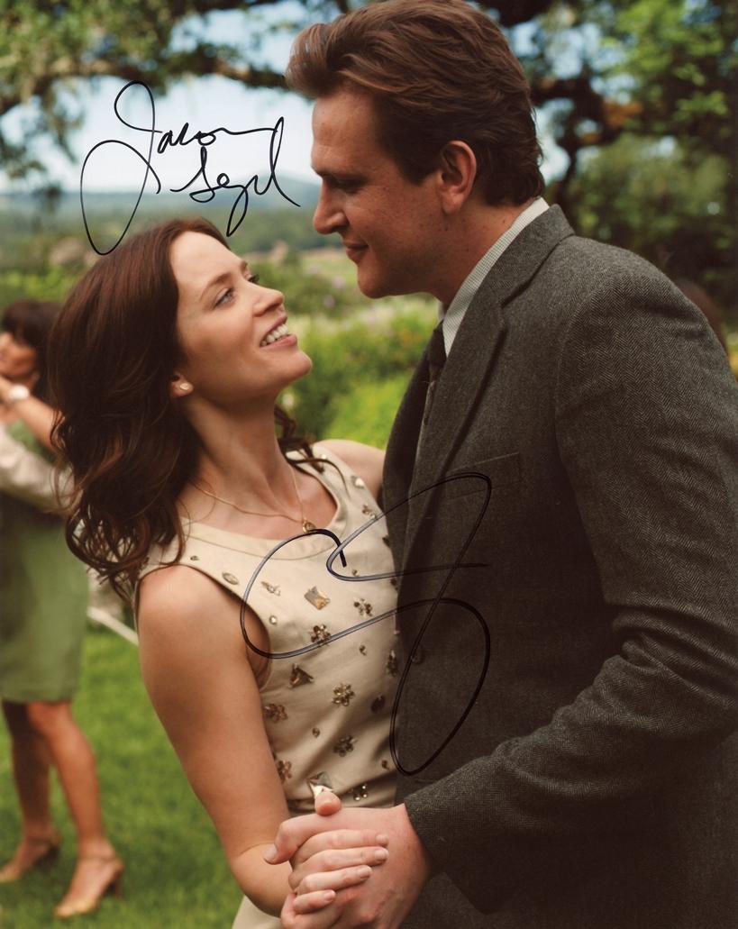 Jason Segel & Emily Blunt Signed Photo