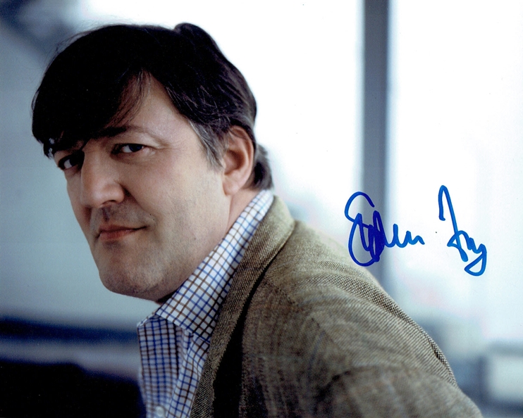 Stephen Fry Signed Photo