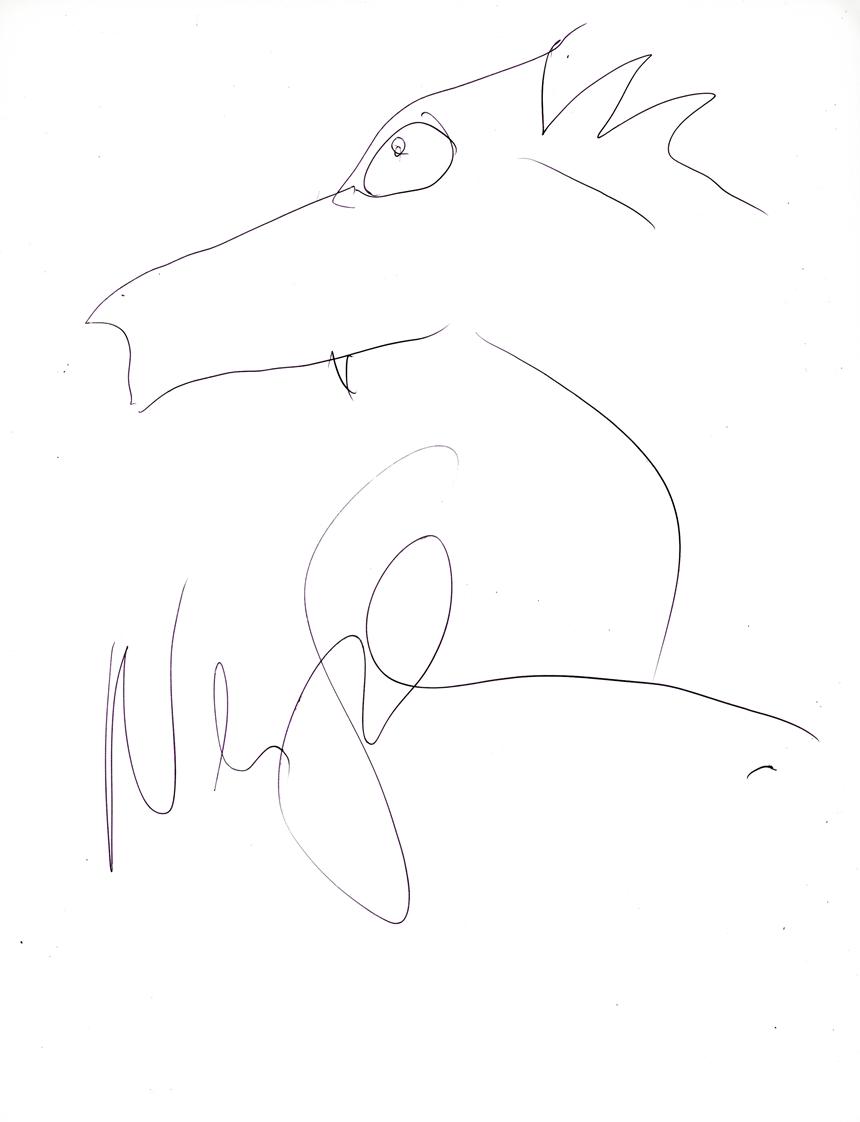 Neil Gaiman Signed Photo