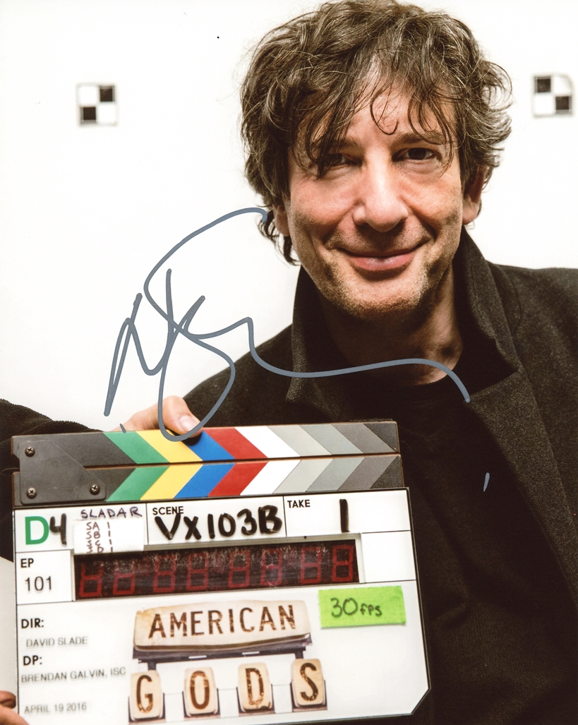Neil Gaiman Signed Photo