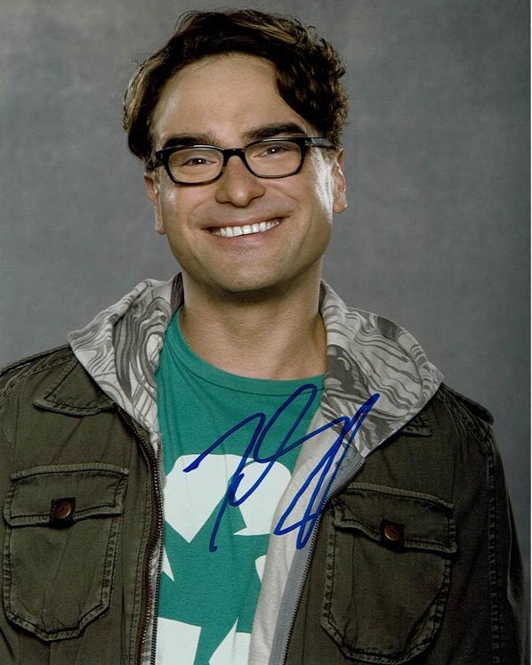 Johnny Galecki Signed Photo