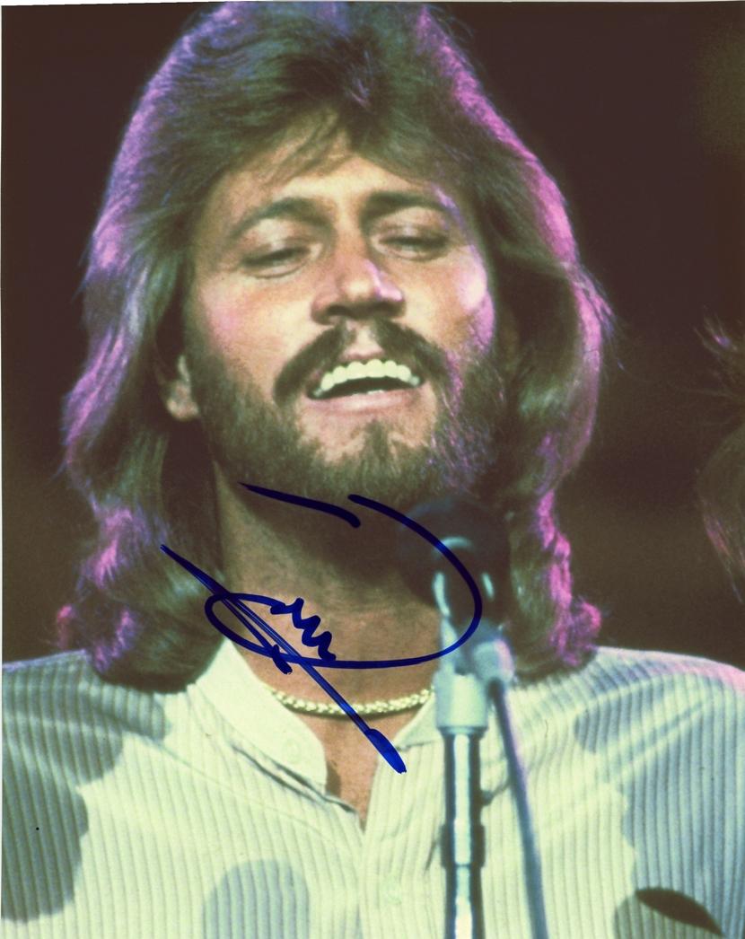 Barry Gibb Signed Photo