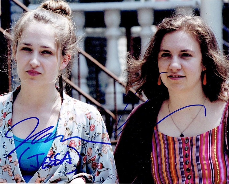 Lena Dunham & Jemima Kirke Signed Photo