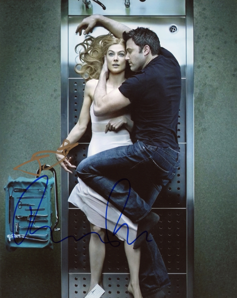 Ben Affleck & Rosamund Pike Signed Photo