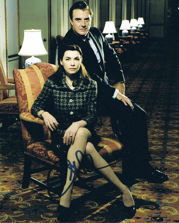 Julianna Margulies & Chris Noth Signed Photo
