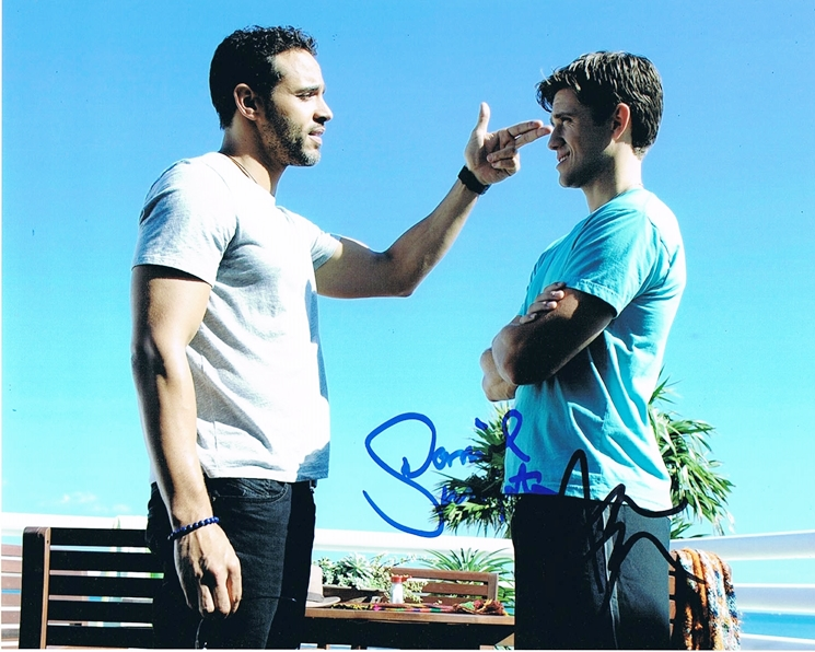 Aaron Tveit & Daniel Sunjata Signed Photo
