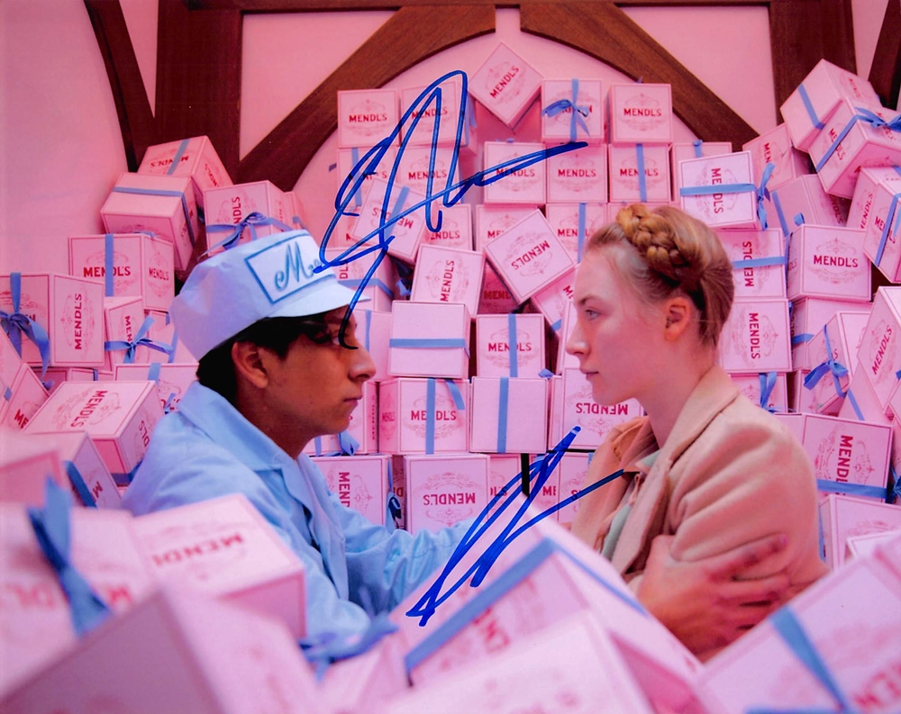 Saoirse Ronan & Tony Revolori Signed Photo