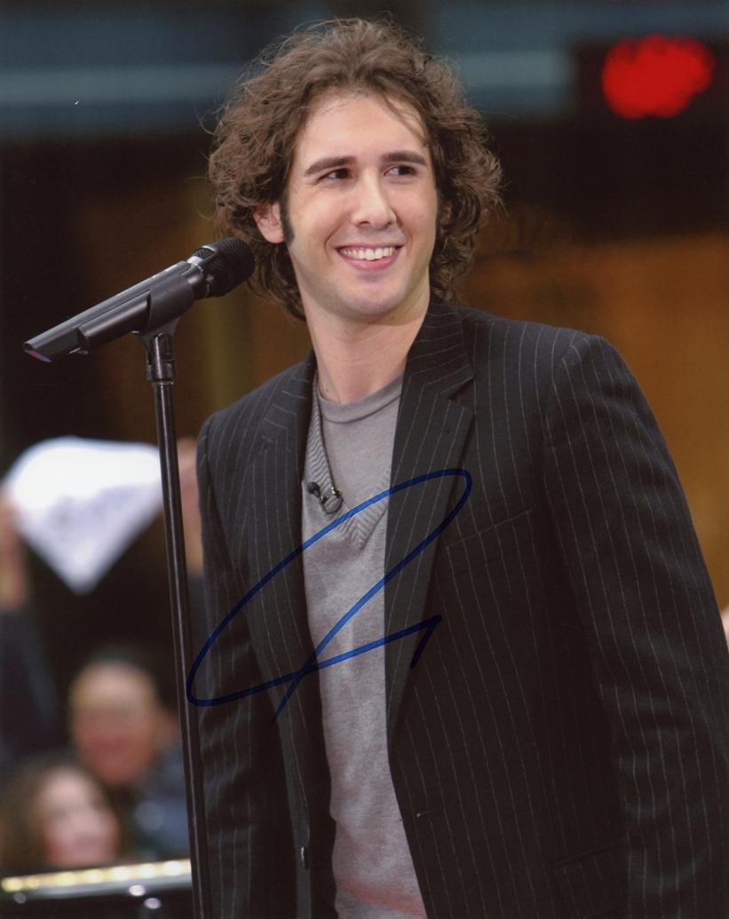 Josh Groban Signed Photo