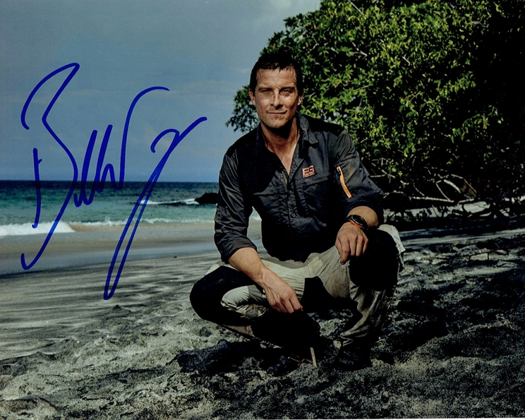Bear Grylls Signed Photo