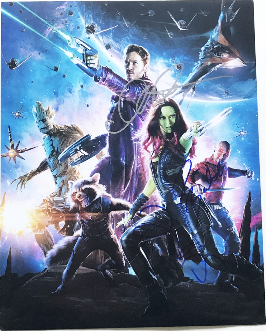 Guardians of the Galaxy Signed Photo