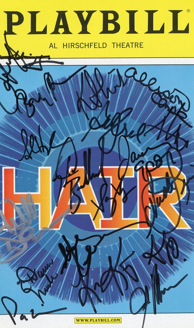 Hair Signed Playbill