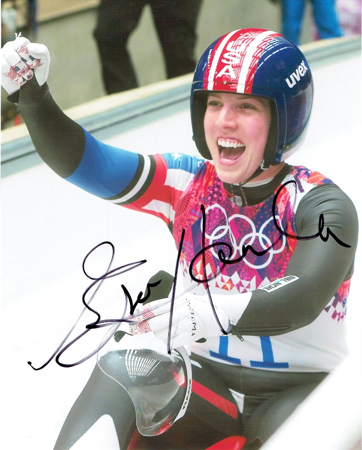 Erin Hamlin Signed Photo