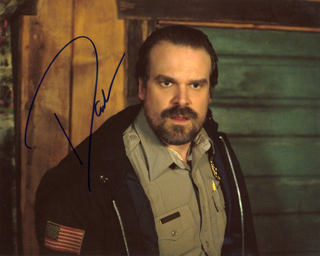 David Harbour Signed Photo