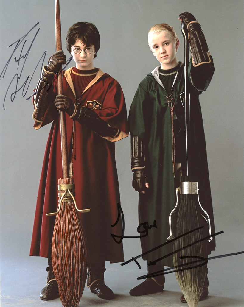 Daniel Radcliffe & Tom Felton Signed Photo
