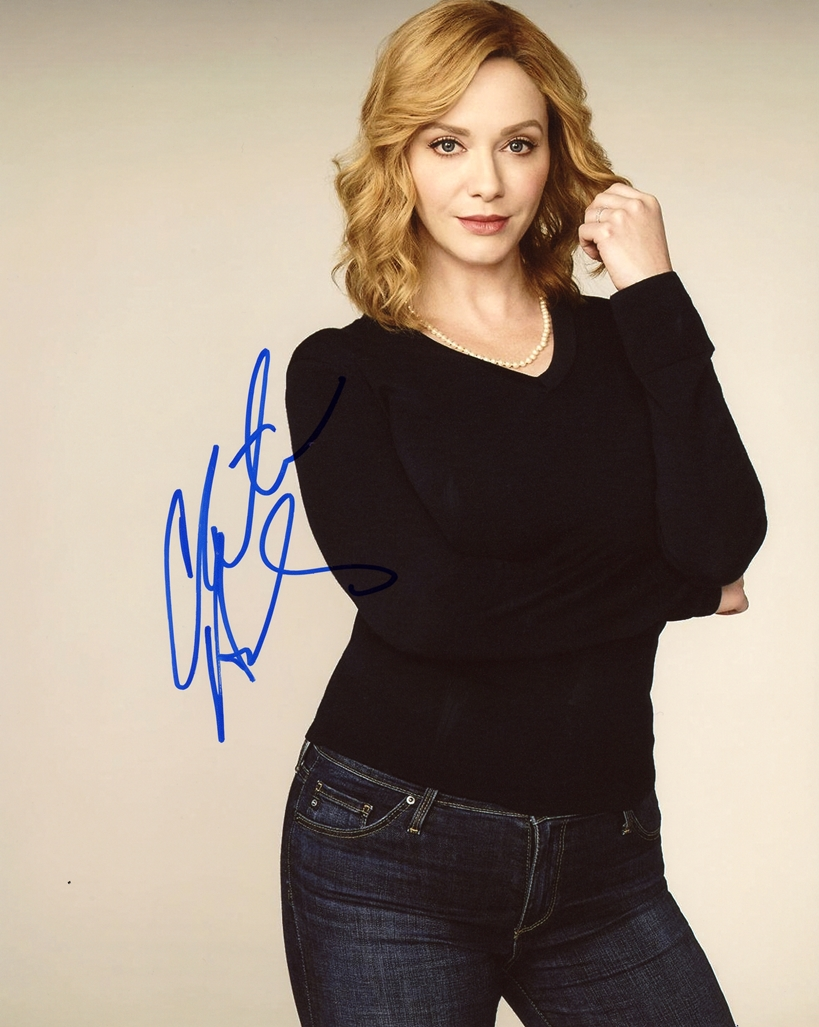 Christina Hendricks Signed Photo