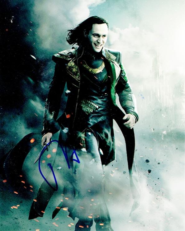Tom Hiddleston Signed Photo