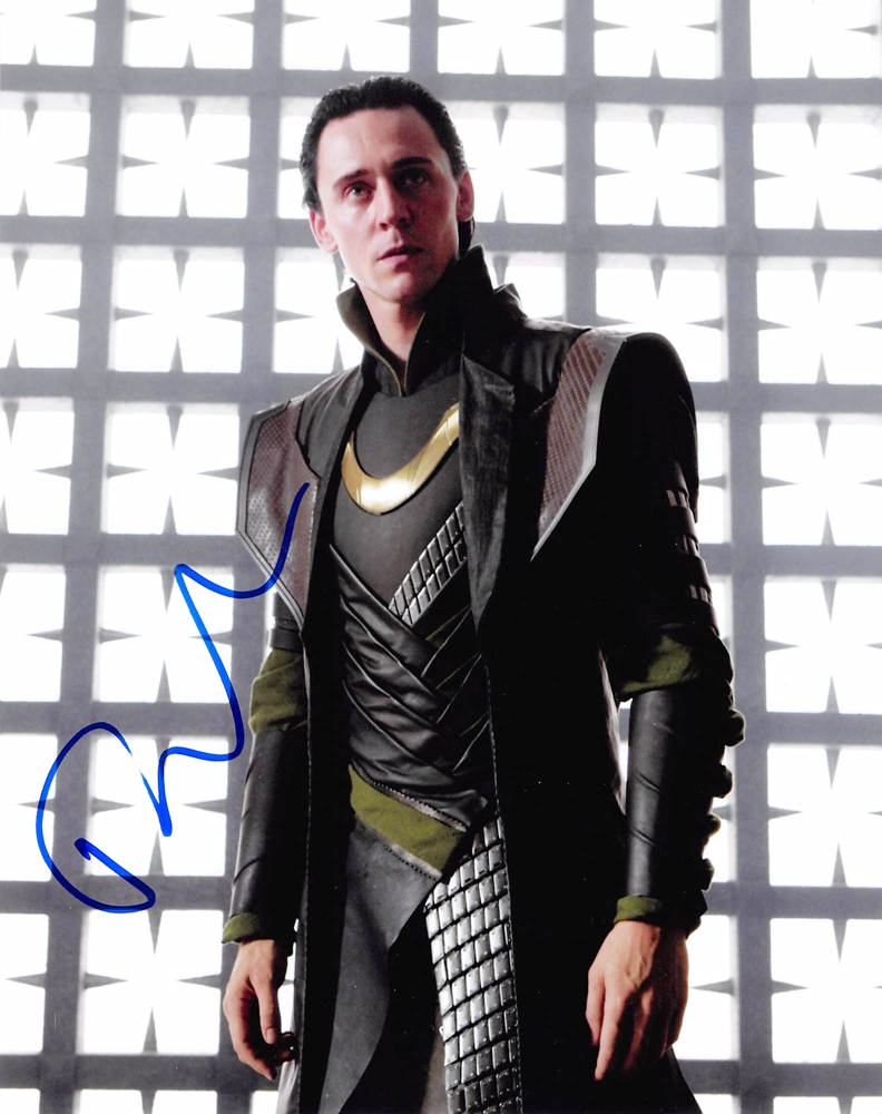Tom Hiddleston Signed Photo