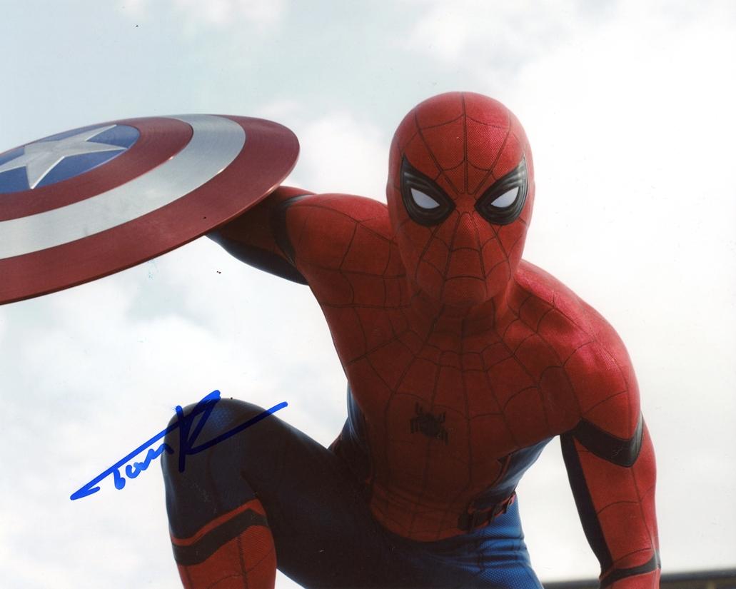 Tom Holland Signed Photo