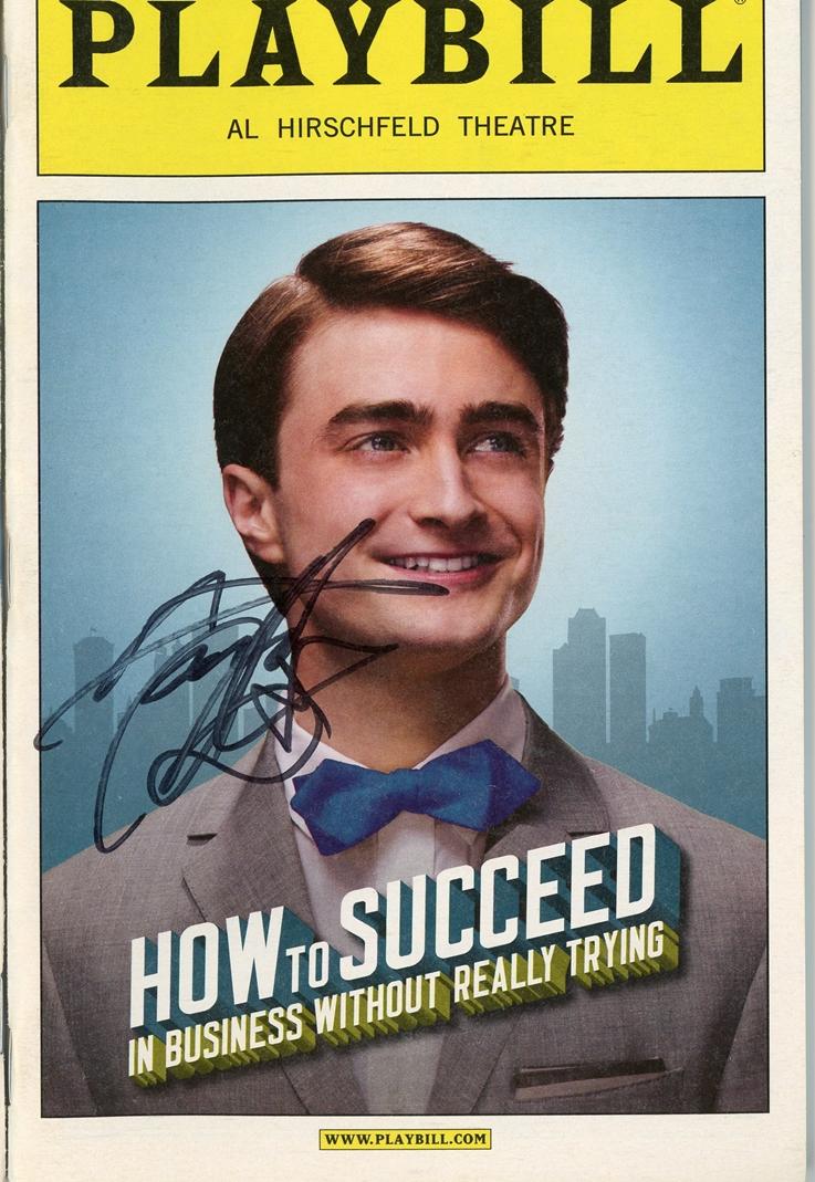 Daniel Radcliffe Signed Playbill