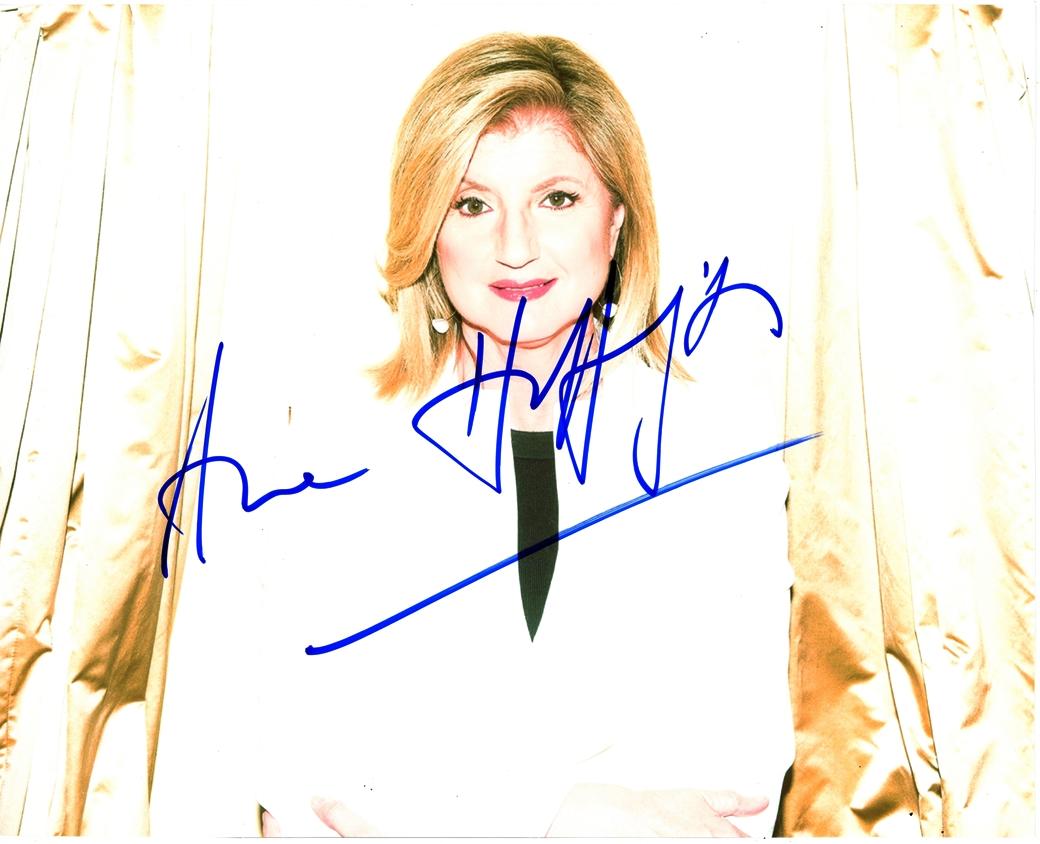 Arianna Huffington Signed Photo