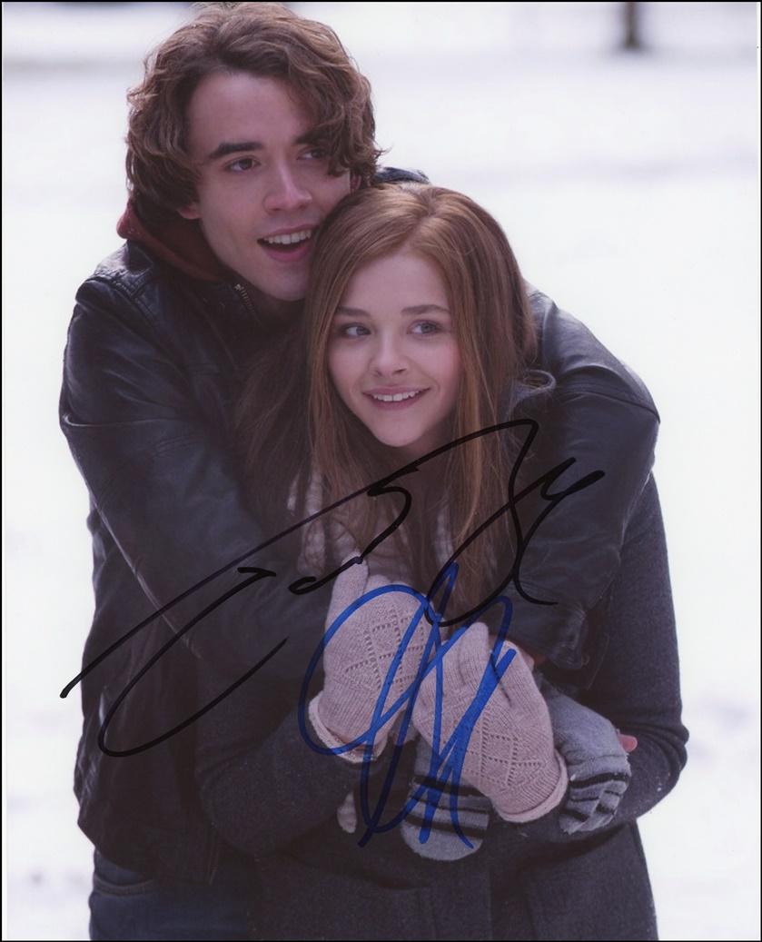 Chloe Moretz & Jamie Blackley Signed Photo